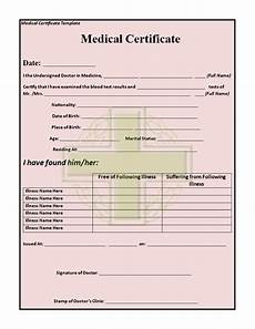 Medical Leave Certificate Format Pdf 19 Medical Certificate Templates For Leave Pdf Docs