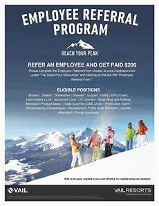 Employee Referral Program Policy Employee Referral Program Vail Mountain 12 23 16
