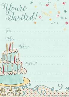Birthday Invitation Card Maker Free Printable Free Printable Whimsical Birthday Party Invitation T