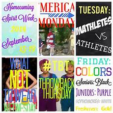 Church Homecoming Theme Ideas Homecoming 2014 Spirit Week Theme Days Homecoming Themes