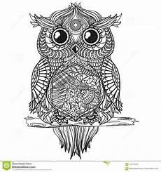 mandala with owl stock vector illustration of flower
