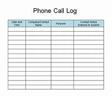 Sales Call List Template Free 11 Sample Call Log Templates In Pdf Ms Word