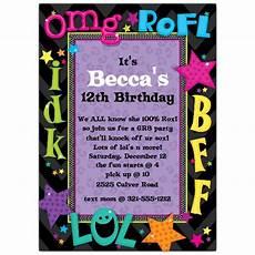 Teenage Birthday Invitation Templates Talk Birthday Party Invitations Paperstyle