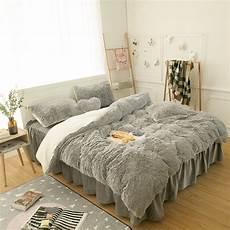 princess bedding set thick fleece warm winter bed