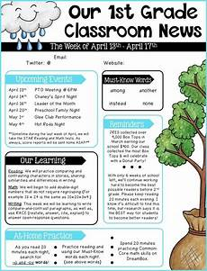 Sample Newsletters For Parents Editable Newsletter Templates School Newsletter Template