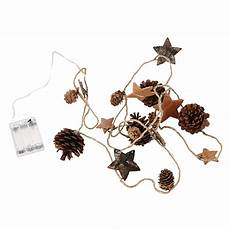 Pine Cone String Lights Pine Cone Garland Led Lighted Christmas Garland With Real