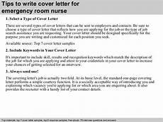Cover Letter For Emergency Room Nurse Emergency Room Nurse Cover Letter