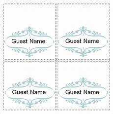 Free Place Card Templates 6 Per Page Free 7 Place Card Templates In Ms Word Pdf