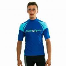 mens swimming shirt sleeve rash guard sleeves surf wear swimming blue