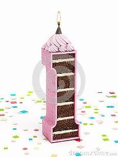 candela a forma di torta numeri 1 a forma di torta di compleanno cioccolato con