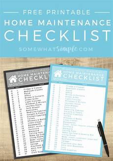 House Maintenance Checklist Daily Cleaning Schedule Easy Home Maintenance Somewhat