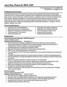 Pharmacy Resume Professional Assistant Pharmacy Manager Templates To