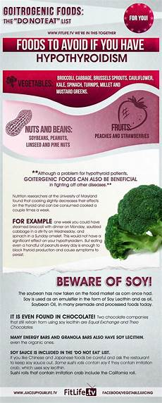foods to avoid if you hypothyroidism infographic