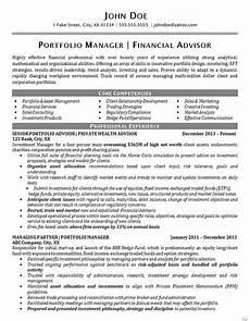 Asst Manager Resume Portfolio Manager Manager Resume Good Resume Examples