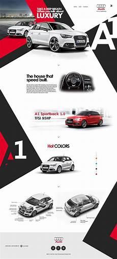 A1 Web Designer Audi A1 Redesign Website Web Layout Design Simple Web