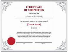 Training Certificate Of Completion 7 Training Certificate Templates Free Download