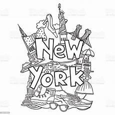 new york buch malvorlagen stock vektor und mehr bilder