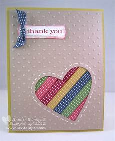 Ribbon Cards Using Ribbon Scraps The Ribbon Heart Card Northwest Stamper