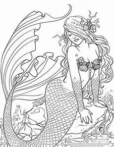 Ausmalbilder De Meerjungfrau Malvorlagen Fur Kinder Ausmalbilder Meerjungfrau