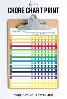 Chore Chart Kits Free Printable Chore Chart For Kids And Chores By Age Chart
