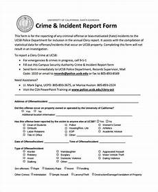 Special Incident Report Form California Free 42 Incident Report Forms In Pdf Ms Word Excel