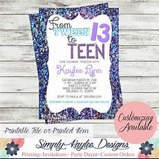 Teenage Birthday Invitation Templates Tween To Birthday Party Invitation By Simplykayleedesigns