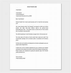 Transfer Letter Format From One Location To Another Job Transfer Request Letter How To Write With Format