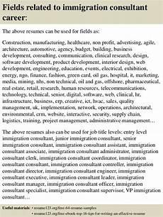 Immigration Consultant Resume Top 8 Immigration Consultant Resume Samples