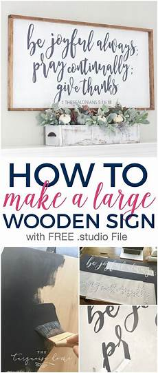 How To Make A For Sale Sign How To Make A Large Wooden Sign The Turquoise Home