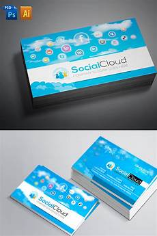 Social Media Business Card Social Media Business Card Corporate Identity Template 66881