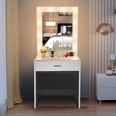 ktaxon vanity table w 10 led lighted mirror makeup