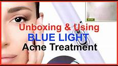 Acne Blue Light At Home Unboxing How To Use Blue Light Acne Treatment Kd 7910