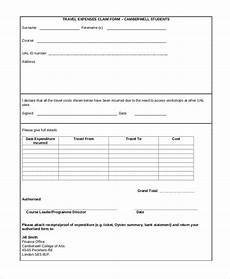 Travel Expense Claim Form Template Free 11 Sample Travel Expense Claim Forms In Ms Word