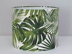 Palm Leaf Light Shade New Retro Botanical Palm Leaves Drum Lampshade Lightshade