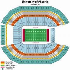 Cardinals Football Stadium Seating Chart Nfl Stadium Seating Charts Stadiums Of Pro Football