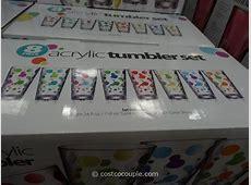8 Piece Polka Dot Acrylic Tumbler Set