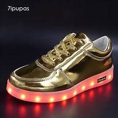 Kids Gold Light Up Shoes 7ipupas Latest Gold Color Kids Led Shoes With Light Up