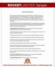 Lawn Care Contracts Samples Lawn Service Contract Template With Sample