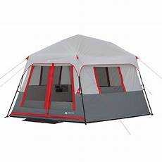 camping tent with built in lights ozark trail 8 person instant hexagon tent with led lights