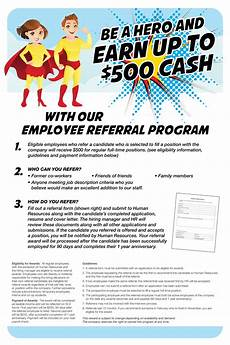 Employee Referral Program Policy Employee Referral Program Poster On Behance