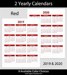 Yearly Calendar 2015 2020 2020 2019 Amp 2020 Yearly Calendar 8 5 X 11 Legacy Templates