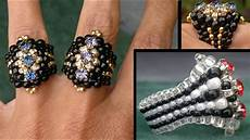 beading4perfectionists quot the biker quot ring swarovski