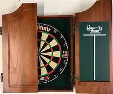 winmau blade 5 five dart board walnut timber wooden