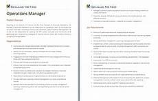 Operations Associate Job Description Operations Mgr Job Description Operations Management