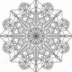 Malvorlagen Erwachsene Mandala Erwachsene Mandala Malvorlagen Stockvektor
