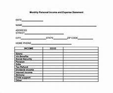 Income Expense Statement Template Sample Expense Statement Template 13 Free Documents In
