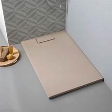piatto doccia sottile piatto sottile in resina per doccia 120x80 cm beige kv store