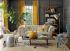 Gray Walls Gray And Yellow Living Rooms Photos Ideas And Inspirations