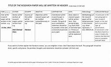 Research Tables Literature Review Table How To Write A Research Paper S