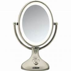 Conair 3x 1x Magnification Mirror With Led Lighting Shop Conair Nickel Double Sided 1x 5x Lighted Makeup